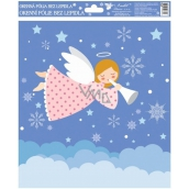 Room Decor Window film without glue cheerful angels colored 1. Pink angel 29,5 x 24 cm