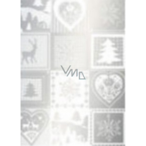 Ditipo Gift wrapping paper 70 x 500 cm Christmas silver Christmas motifs