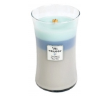 WoodWick Trilogy Woven Comforts - Warm comfort scented candle with wooden wick and lid glass large 609.5 g