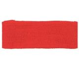 Jute ribbon red width 6 cm, 2 m
