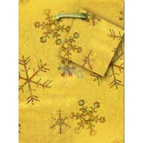 Nekupto Gift paper bag hologram 14 x 11 x 6.5 cm Christmas, gold 045 01 GS