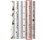 Zöllner Christmas Luxury wrapping paper with embossing White white Merry Christmas 1.5 mx 70 cm
