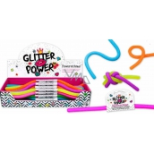 Power Cord elastic plastic, which is expandable up to 2 meters! glitter - blue