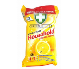 Green Shield Household Surface Wipes Lemon 4in1 Household Antibacterial Cleaning Wet Wipes 70 Pieces