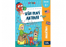 Albi Kvído English workbook full of activities recommended age 6+