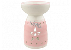 Aromalampa ceramic pink with a star 16 cm