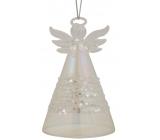 Glass angel standing 9 cm