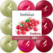 Bolsius Aromatic Cranberry - Cranberry scented tealights 18 pieces, burning time 4 hours