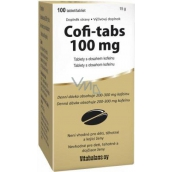 Vitabalans Coffi Tabs tablets containing caffeine to stimulate and stimulate the body 100 tablets